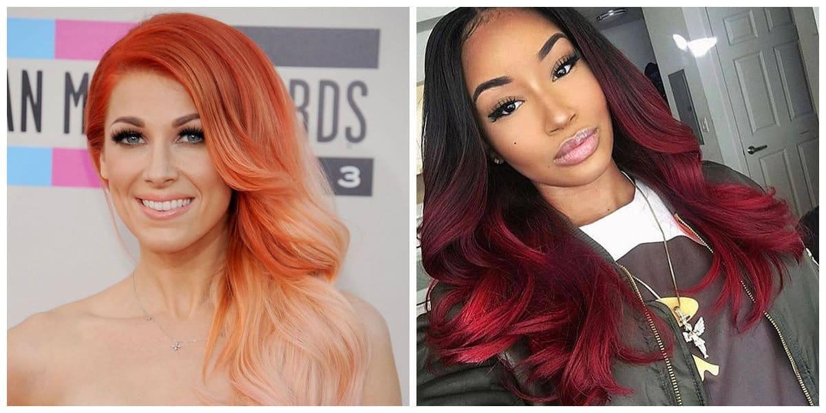 womens hairstyles 2019, stylish orange hair, fashionable red hair