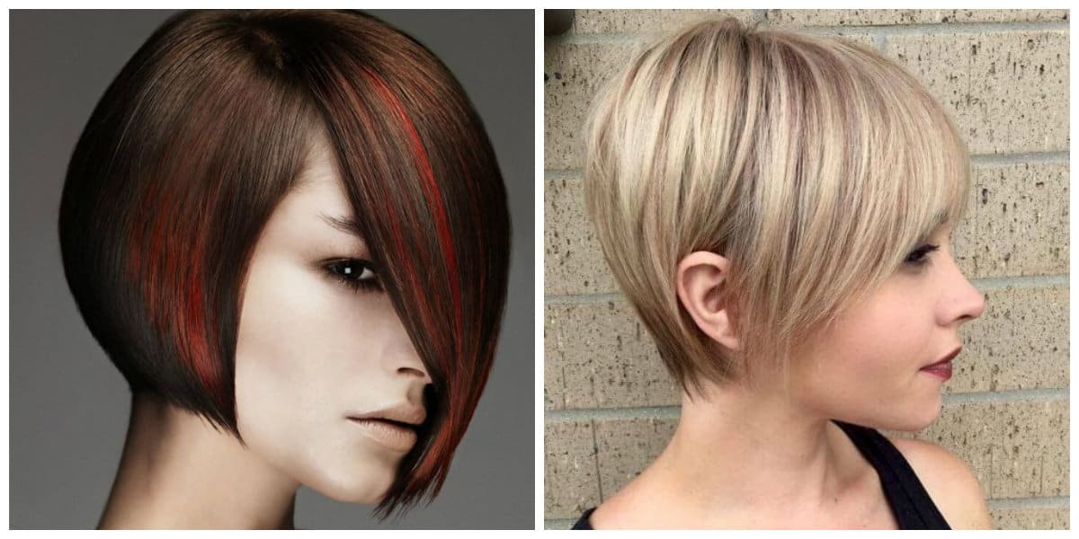 womens short hairstyles 2019, multi layered bangs with short hair 2019