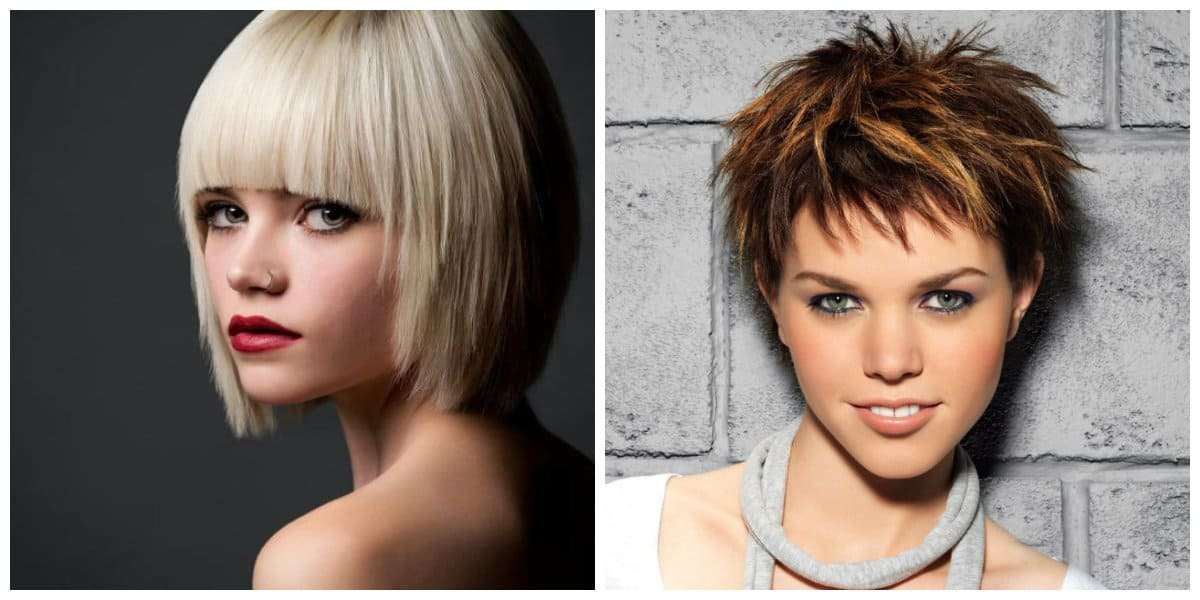womens short hairstyles 2019, short updos with bangs and without bangs