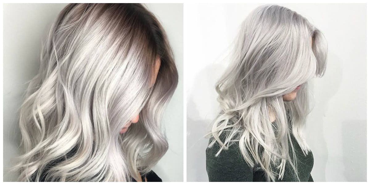 blonde hair 2019, stylish silver blonde hair 2019