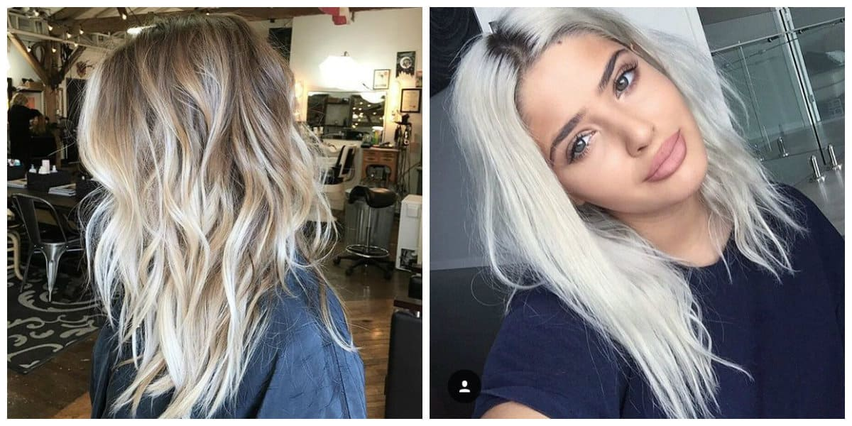 dark blonde hair 2019, dark roots and light ends for blonde hair 2019