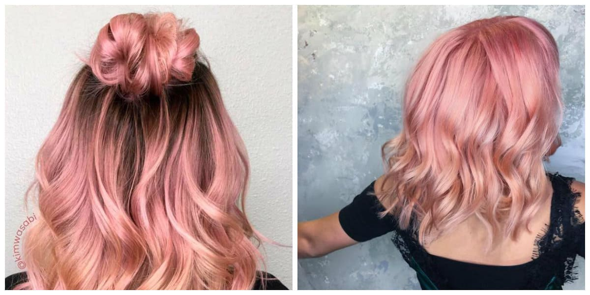golden blonde hair 2019, trendy rose gold blonde hair 2019