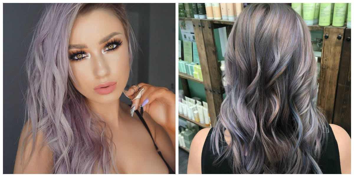 grey hair 2019, trendy shades of grey and tips for staining in grey color