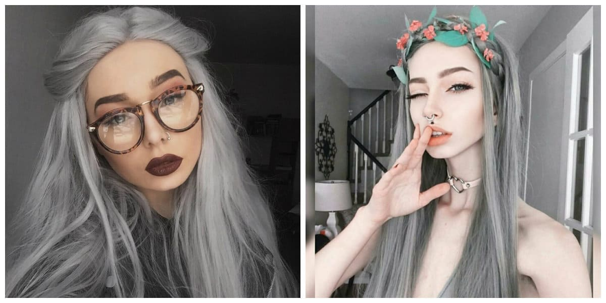 grey hair 2019, how to paint hair in grey color, tips and tricks