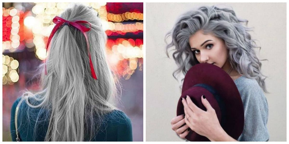 Grey Hair 2021 Trendy Gray Hair Colors 2021 And Ttips For Staining In Grey 30 Photo And Video