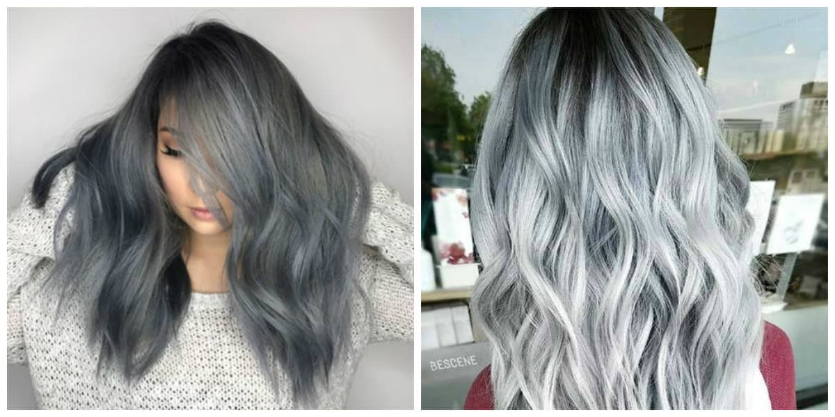 grey hair 2019, stylish saturated grey hair color 2019