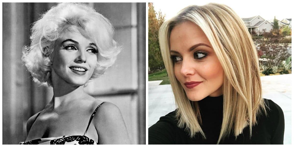 long bob hairstyles 2019, classic long bob, long bob in style of Marilyn Monroe