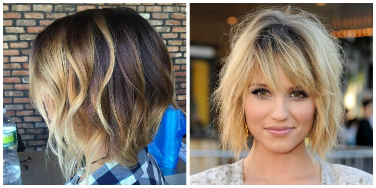 short layered hairstyles 2019, short layered blonde hair 2019