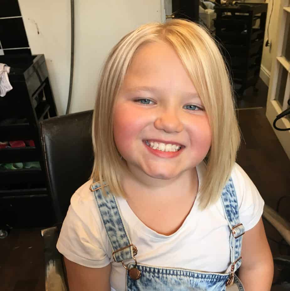 Cap haircut for little girls