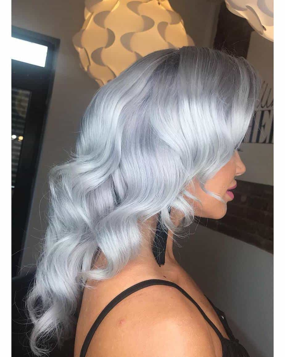 Gray blonde color trends 2020