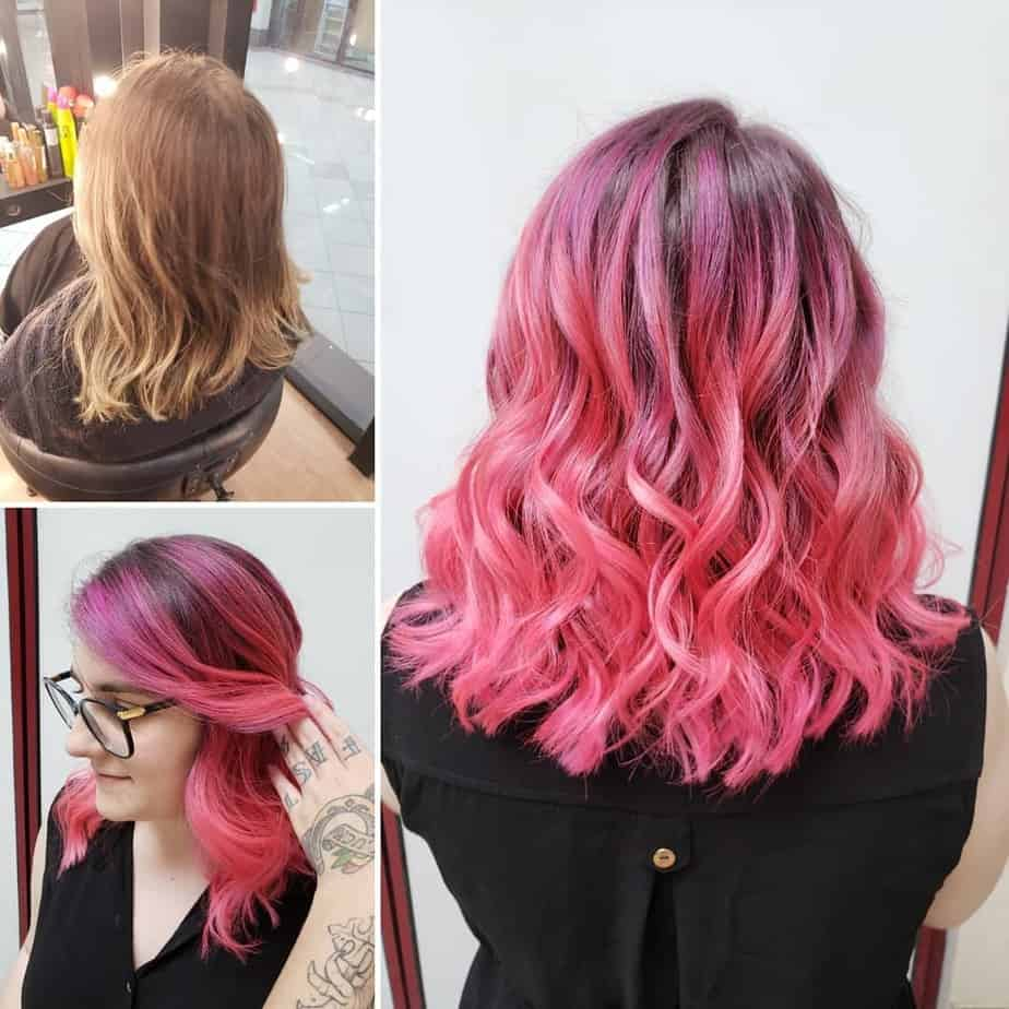 Extreme palette of hair color trends 2020