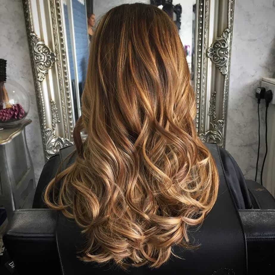 Caramel hair color 2020 with ombre technique