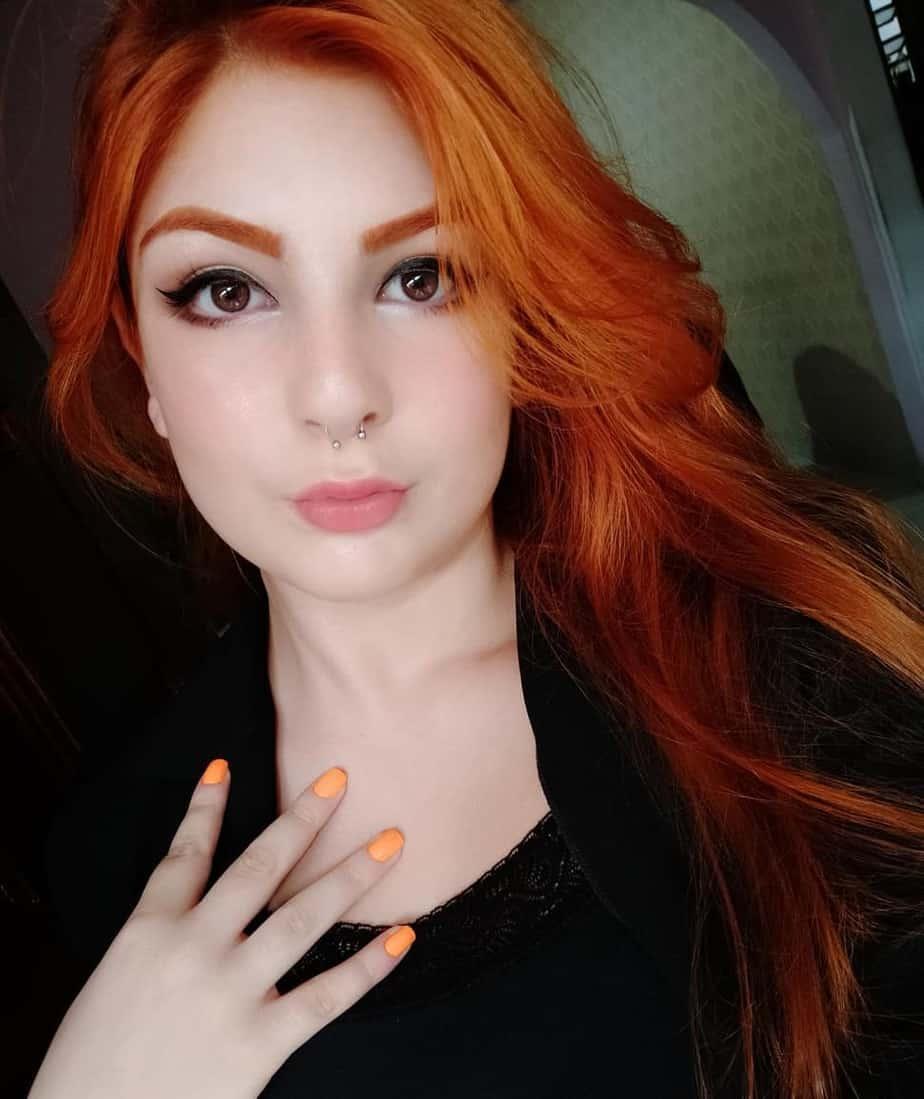 Orange fire as a hair color