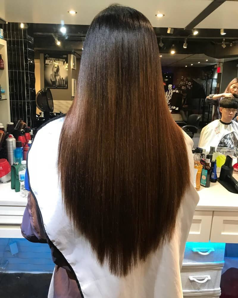 Angled long hairstyles for women 2020