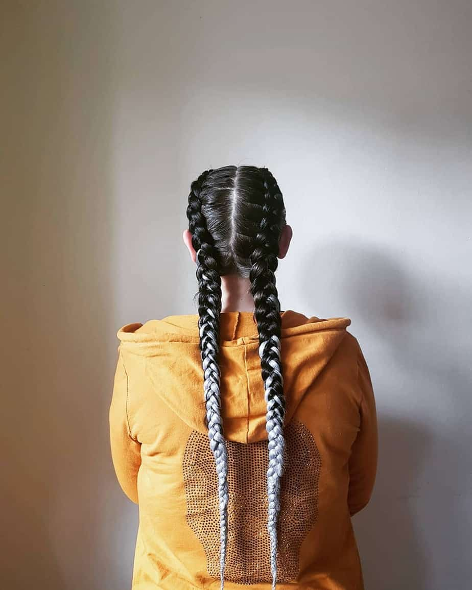 Kanekalon braids on long hairstyles for 2020