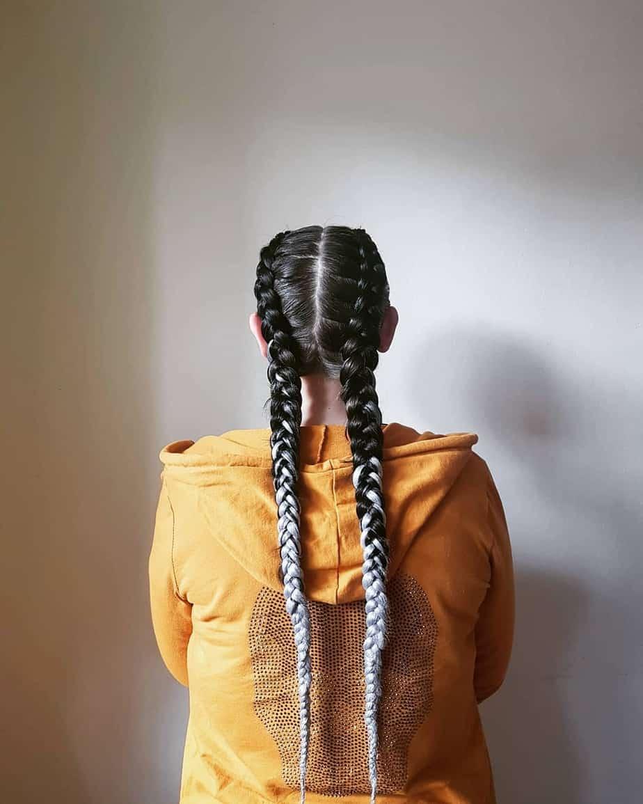 Kanekalon braids on long hairstyles for 2022