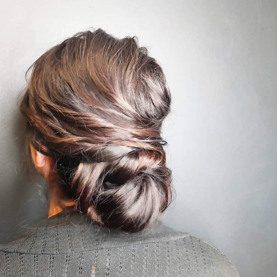 Classy and simple low buns