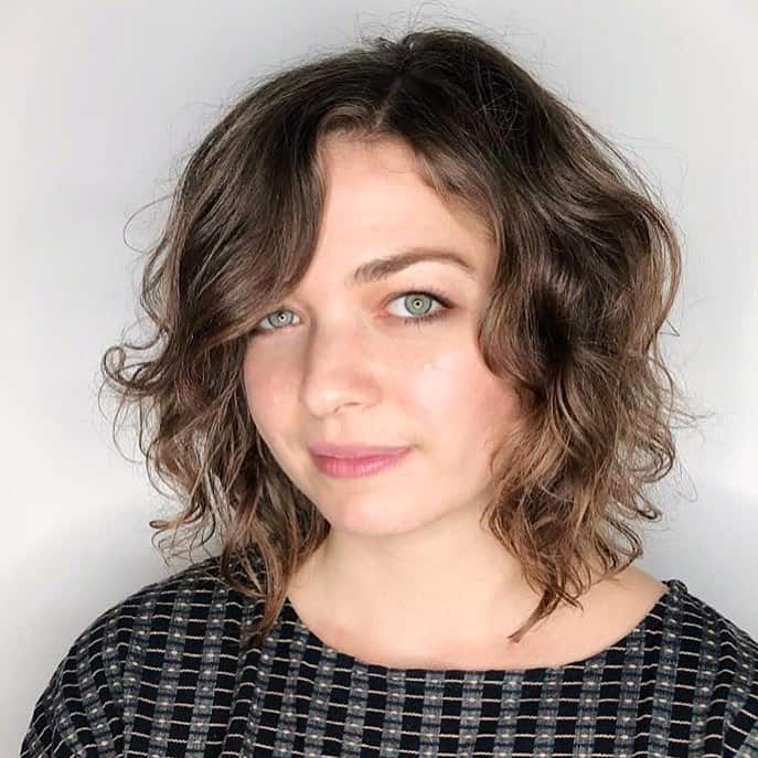 Curly bob medium length hairstyles 2020