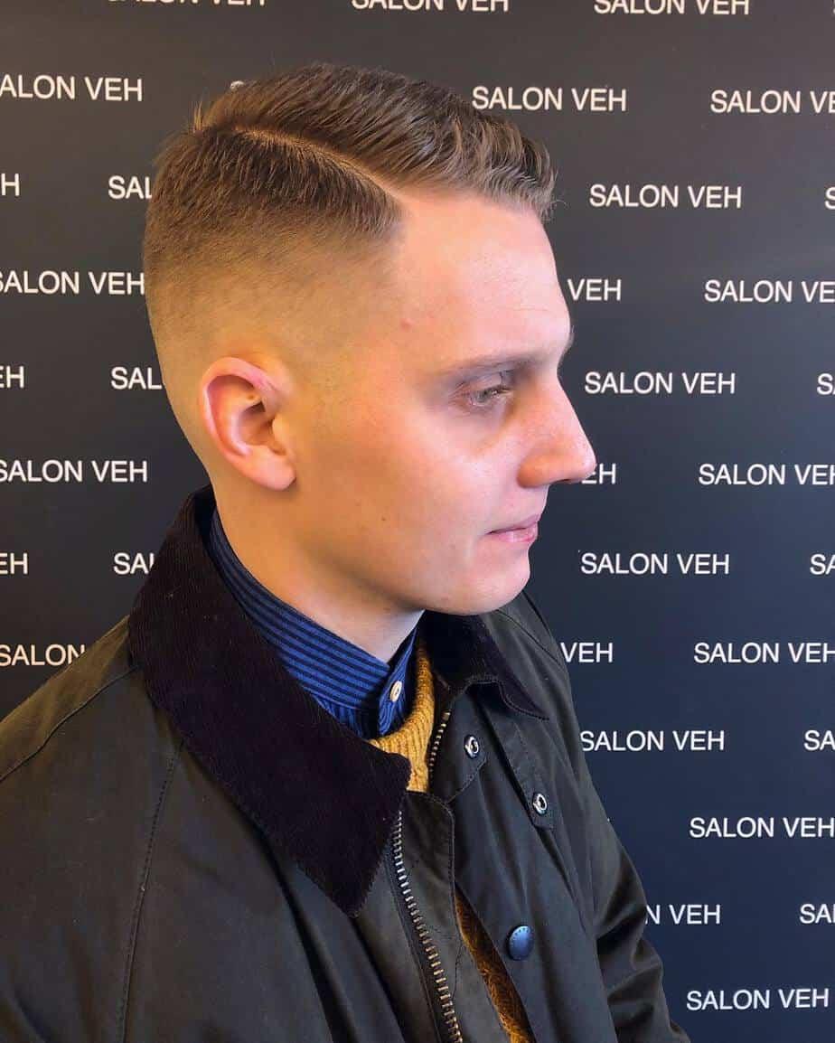 Fading style men short hair 2020