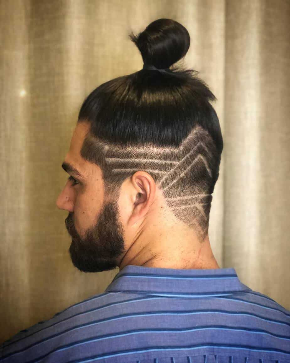 Shaved temples mens long hair trends 2020
