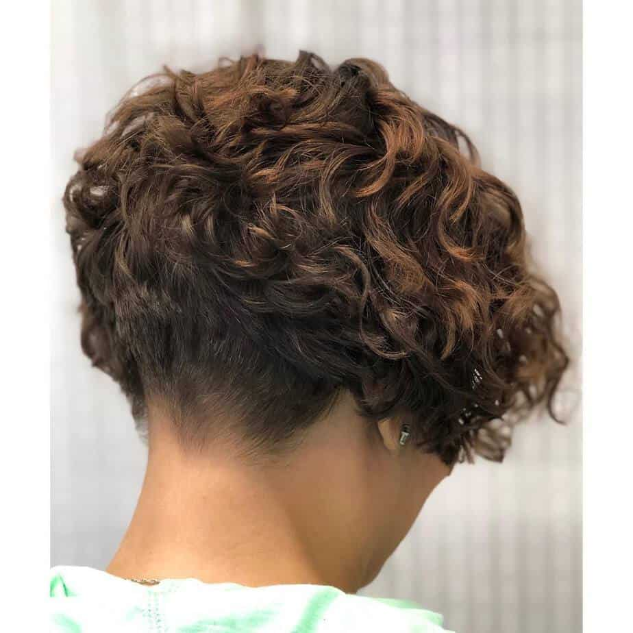 Undercut pompadour short curly hairstyles 2020