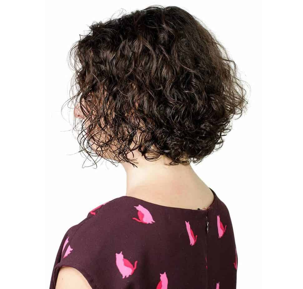 Curly short layered hair 2020