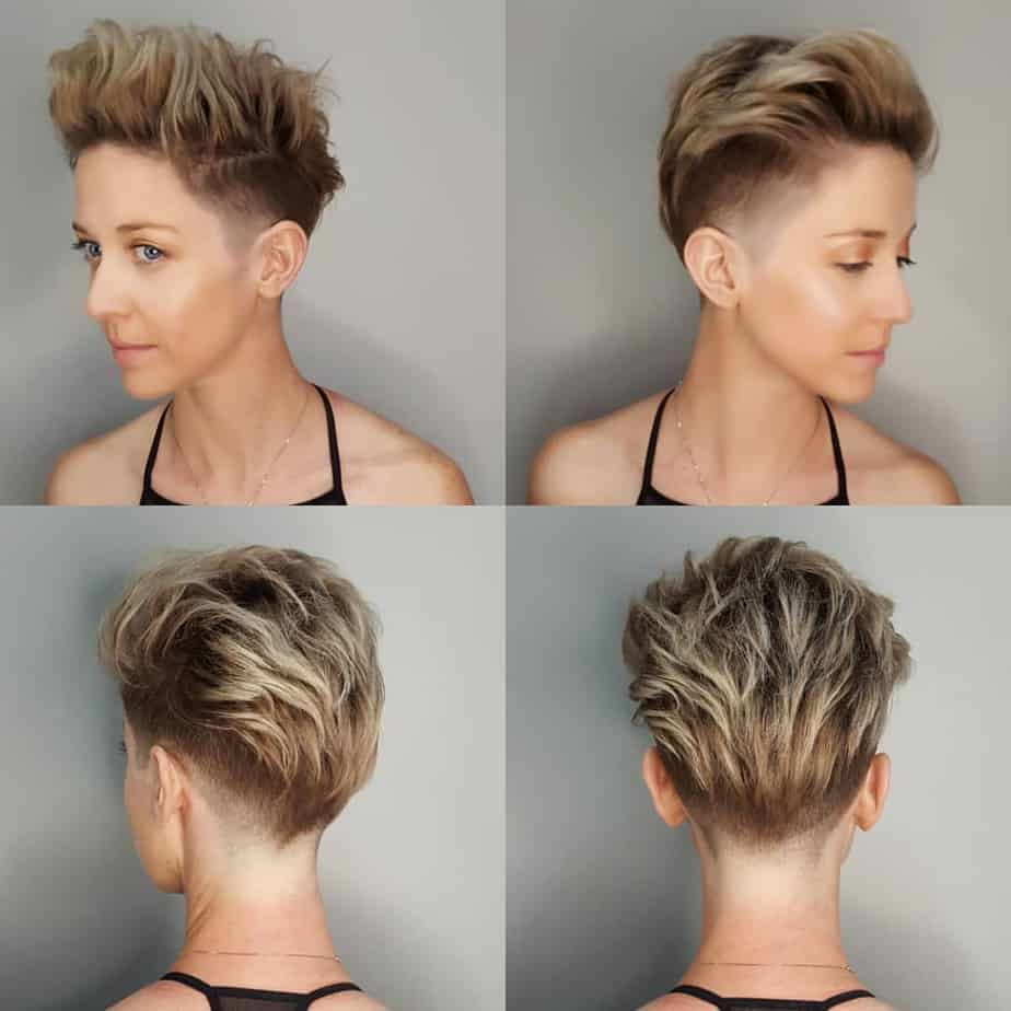 Womens short hairstyles 2020: Pixie with undercut
